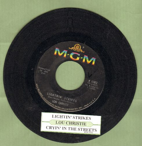 Christie, Lou - Lightnin' Strikes/Cryin' In The Street (with juke box label) - VG7/ - 45 rpm Records