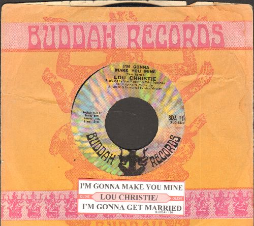 Christie, Lou - I'm Gonna Make You Mine/I'm Gonna Get Married (with Buddah company sleeve and juke box label) - M10/ - 45 rpm Records
