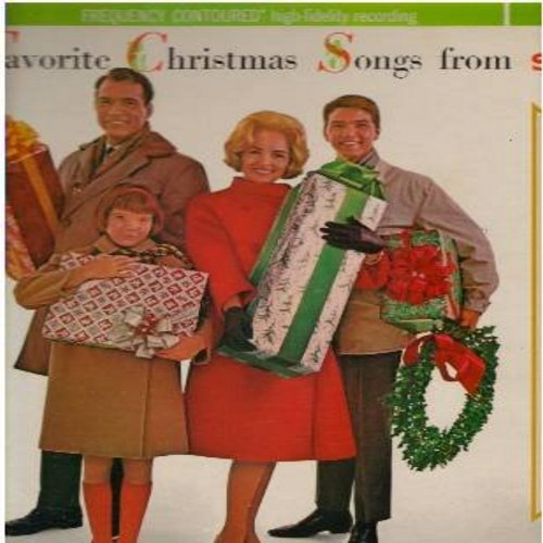 Singer Orchestra, George Siravo - Favorite Christmas Songs from Singer: Jingle Bells, Silent Night, White Christmas, The Christmas Song, Santa Claus Is Coming To Town (Vinyl STEREO LP record, PROMOTIONAL Pressing featuring cast of The Donna Reed Show in a