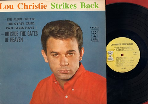 Christie, Lou - Lou Christie Strikes Back: Outside The Gates Of Heaven, Mr. Tenor Man, Tears On My Pillow, The Gypsy Cried, Two faces Have I, How Many Teardrops (vinyl MONO LP record) - M10/EX8 - LP Records