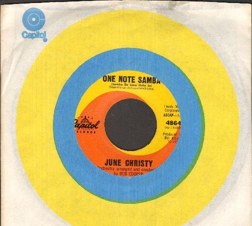 Christy, June - One Note Samba/Bossa Nova (with Capitol company sleeve) - NM9/ - 45 rpm Records