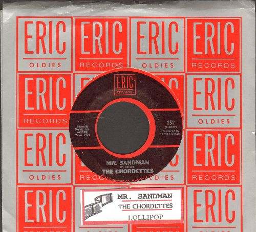 Chordettes - Mr. Sandman/Lollipop (double-hit re-issue with juke box label and company sleeve) - NM9/ - 45 rpm Records
