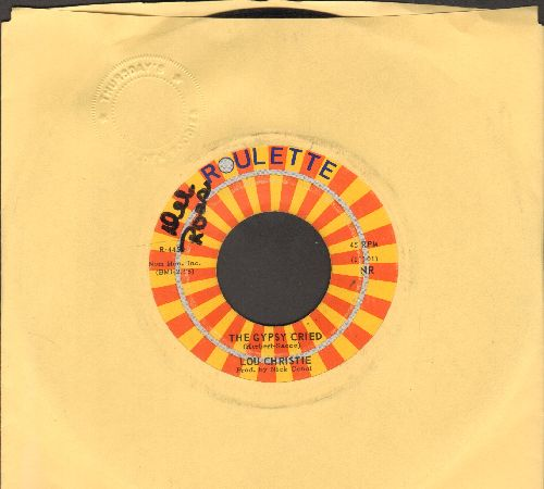 Christie, Lou - The Gypsy Cried/Red Sails In The Sunset (orange label roulette wheel, minor wol)) - EX8/ - 45 rpm Records