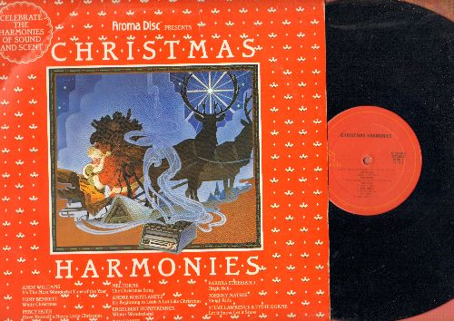 Williams, Andy, Johnny Mathis, Barbra Streisand, others - Christmas Harmony: It's The Most Wonderful Time Of The Year, Sleigh Ride, Jingle Bells, The Christmas Song (vinyl STEREO LP record, Aroma Disc Columbia Special Products Pressing) - NM9/EX8 - LP Rec