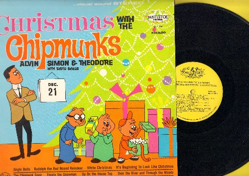 Chipmunks - Christmas With The Chipmunks: The Chipmunk Song, Santa Claus Is Comin' To Town, Frosty The Snow Man, Rudolph The Red-Nosed Reindeer (Vinyl LP record, early re-issue of vintage recordings) - NM9/NM9 - LP Records