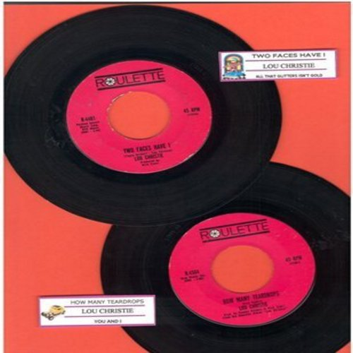 Christie, Lou - 2 for 1 Special: Two Faces Have I/How Many Teardrops (2 vintage first issue 45rpm records with juke box labels for the price of 1!) - EX8/ - 45 rpm Records