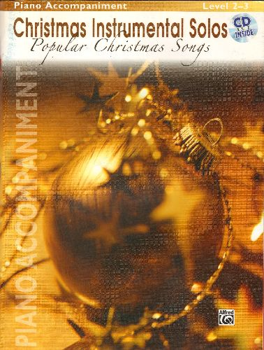 Christmas Instrumental Solos - Christmas Instrumental Solos SHEET MUSIC book with BONUS Music CD! Includes 12 songs like Sleigh Ride, Feliz Navidad, Winter Wonderland, Jingle Bell Rock, You're A Mean One Mr. Grinch. - NM9/ - Sheet Music