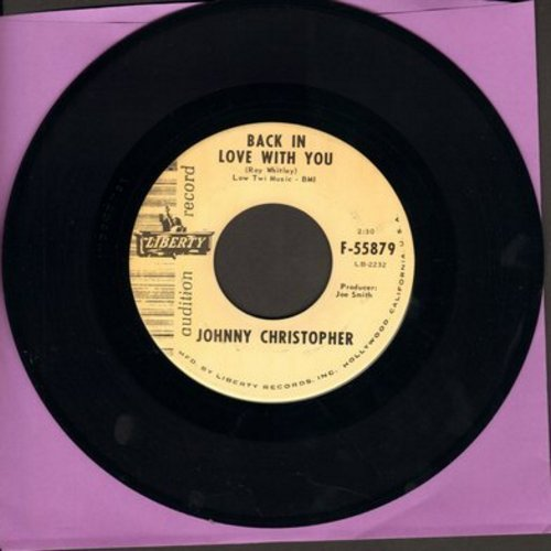 Christopher, Johnny - Railroad Tracks/Back In Love With You (DJ advance pressing) - NM9/ - 45 rpm Records