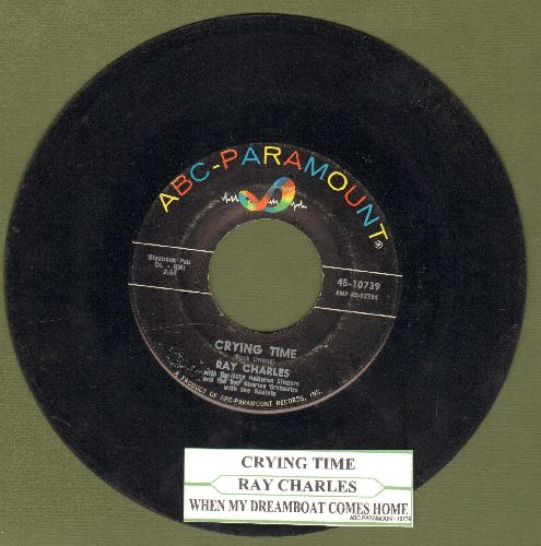 Charles, Ray - Crying Time/When My Dreamboat Comes Home (with juke box label) - VG7/ - 45 rpm Records