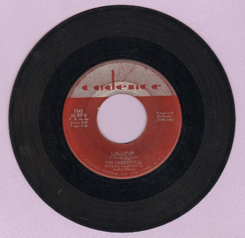 Chordettes - Lollipop/Baby, Come-A Back-A  - VG6/ - 45 rpm Records