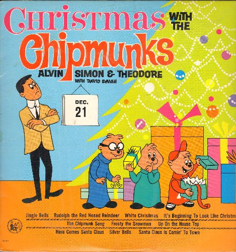 Chipmunks - Christmas With The Chipmunks: The Chipmunk Song, Santa Claus Is Comin' To Town, Frosty The Snow Man, Rudolph The Red-Nosed Reindeer (Vinyl MONO LP record, re-issue of vintage recordings) - NM9/EX8 - LP Records