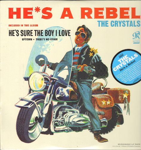 Crystals - He's A Rebel: He's Sure The Boy I Love, Uptown, There's No Other (Vinyl LP record, re-issue of RARE vintage recordings, SEALED, never opened!) - SEALED/SEALED - LP Records
