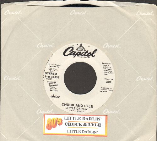 Chuck & Lyle - Little Darlin' (double-A-sided DJ advance pressing with Capitol company sleeve and juke box label, featured in flim -Ishtar-) - NM9/ - 45 rpm Records