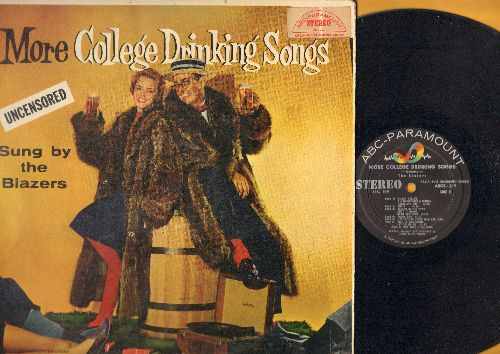 Blazers - More College Drinking Songs (Uncensored) Featuring The Blazers (Vinyl STEREO LP record, song lyruics on back of cover) - EX8/VG7 - LP Records