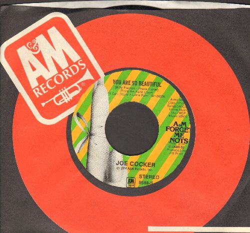 Cocker, Joe - You Are So Beautiful/High Time We Went (MINT condition double-hit re-issue with A&M company sleeve) - M10/ - 45 rpm Records