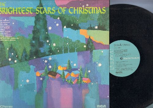 Ormandy, Eugene & The Philadelphia Orchestra, Elvis Presley, Perry Como, others - The Brightest Stars Of Christmas: We Wish You A Merry Christmas, Here Comes Santa Claus, Winter Wonderland, Sleigh Ride, Silent Night (vinyl LP record) - NM9/EX8 - LP Record