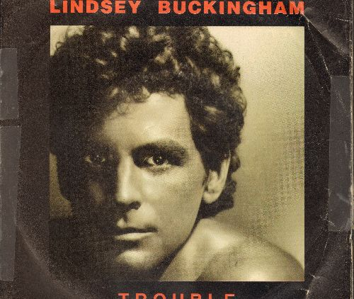 Buckingham, Lindsey - Trouble/Mary Lee Jones (with picture sleeve, scotch tape on sides of sleeve) - NM9/VG7 - 45 rpm Records