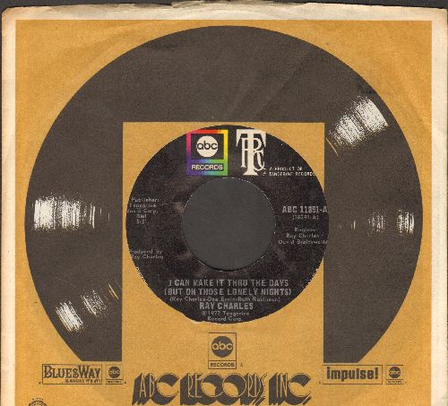 Charles, Ray - I Can Make It Thru The Days (But On Those Lonely Nights)/Ring Of Fire (with company sleeve) - NM9/ - 45 rpm Records