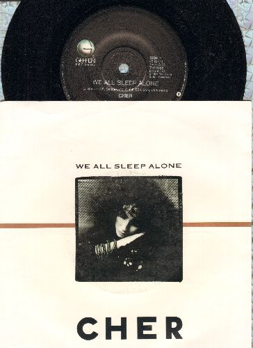 Cher - We All Sleep Alone/Working Girl (with picture sleeve) - NM9/VG7 - 45 rpm Records