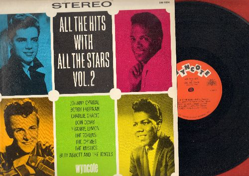 Freeman, Bobby, Johnny Cymbal, Frankie Lymon, Charlie Gracie, others - All The Hits With All The Stars Vol. 2: (Mono),Come Dance With Me, Popeye Waddle, She's A Hippy, Ninety Nine Ways, Groovy Baby (Vinyl STEREO LP record, NICE condition!) - NM9/EX8 - LP