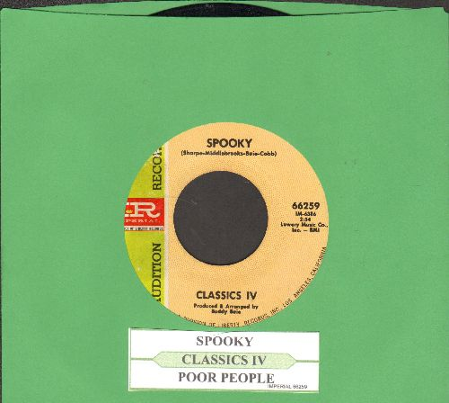 Classics IV - Spooky/Poor People (DJ advance pressing with juke box label) - NM9/ - 45 rpm Records
