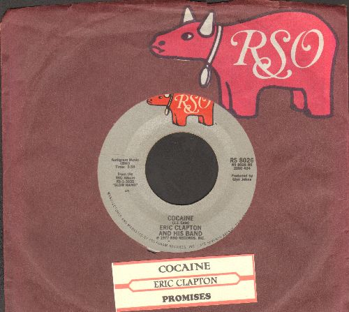 Clapton, Eric - Cocaine/Promises (with RSO company sleeve) - EX8/ - 45 rpm Records
