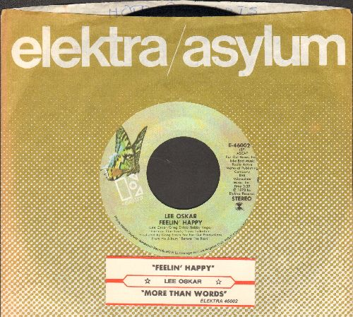 Oskar, Lee - Feelin' Happy/More Than Words (with juke box label and company sleeve) - NM9/ - 45 rpm Records