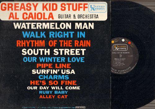 Caiola, Al, Guitar & Orchestra - Greasy Kid Stuff: Walk Right In, Rhythm Of The Rain, South Street, Surfin' USA, Our Day Will Come (vinyl MONO LP record) - NM9/EX8 - LP Records