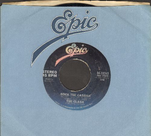 Clash - Rock The Casbah/Long Time Jerk (with Epic company sleeve) - EX8/ - 45 rpm Records