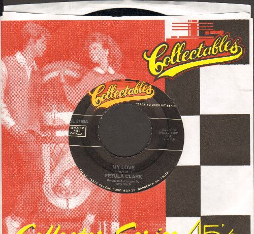 Clark, Petula - My Love/A Sign Of The Times (MINT condition double-hit re-issue with company sleeve) - M10/ - 45 rpm Records