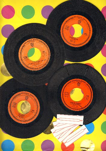 Clark, Petula - 4-Pack of Petula Clark Hit 45s includes: Downtown/My Love/I Couldn't Live Without Your Love/Kiss Me Goodbye. Shipped in plain paper sleeves with 5 blank juke box labels. - VG7/ - 45 rpm Records