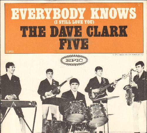 Clark, Dave Five - Everybody Knows (I Still Love You)/Ol' Sol (with picture sleeve) - NM9/EX8 - 45 rpm Records