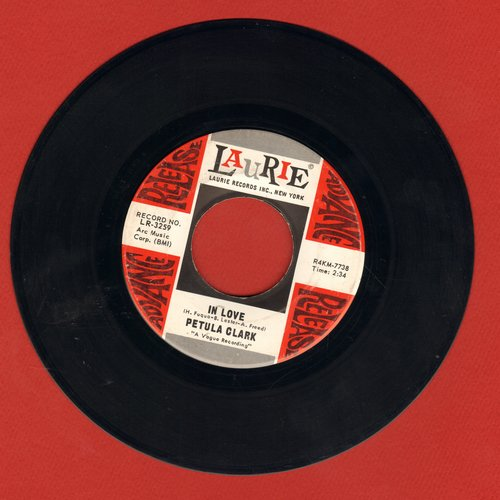 Clark, Petula - In Love/The Road (DJ advance pressing) - NM9/ - 45 rpm Records