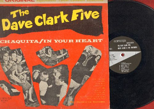 Clark, Dave Five, Ricky Astor & The Switchers - Chaquita/In Your Heart: Short Bread, Ricky's Girl, Hot Rod Fjord, Pizza Pie Baby, Rock Chiquita Rock (Vinyl MONO LP record) - NM9/VG6 - LP Records