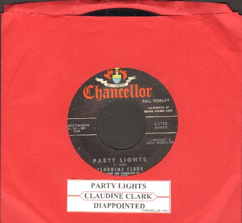 Clark, Claudine - Party Lights/Disappointed (with juke box label) - EX8/ - 45 rpm Records