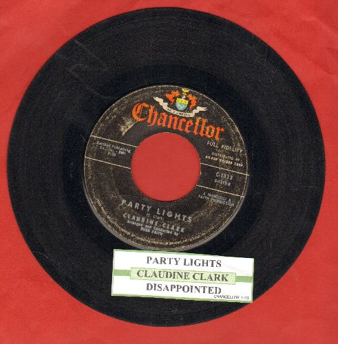 Clark, Claudine - Party Lights/Disappointed (with juke box label) - VG7/ - 45 rpm Records