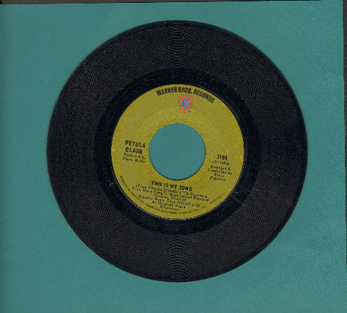 Clark, Petula - This Is My Song/High (green label) - EX8/ - 45 rpm Records