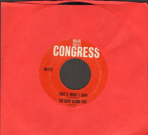 Clark, Dave Five - That's What I Said/I Knew It All The Time  - EX8/ - 45 rpm Records