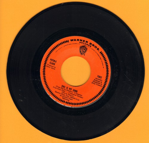 Clark, Petula - This Is My Song/High (MINT condition!) - M10/ - 45 rpm Records