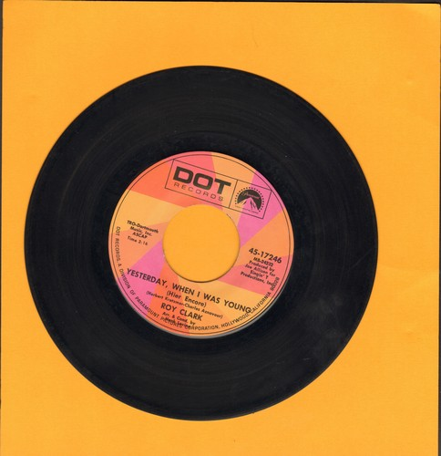 Clark, Roy - Yesterday When I Was Young/Just Another Man - EX8/ - 45 rpm Records