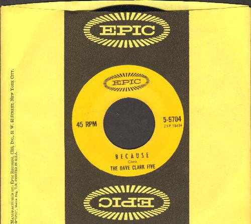 Clark, Dave Five - Because/Theme Without A Name (with Epic company sleeve) - NM9/ - 45 rpm Records