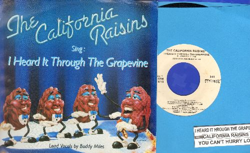 California Raisins - I Heard It Through The Grapevine/ You Can't Hurry Love (with juke box label and picture sleeve) - NM9/NM9 - 45 rpm Records