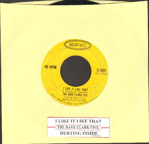 Clark, Dave Five - I Like It Like That/Hurting Inside (with juke box label) - VG7/ - 45 rpm Records
