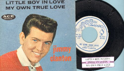 Clanton, Jimmy - My Own True Love/Little Boy In Love (with juke box label and picture sleeve) - EX8/VG7 - 45 rpm Records