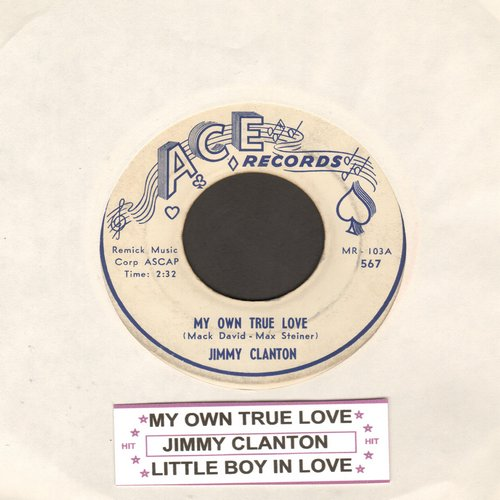 Clanton, Jimmy - My Own True Love/Little Boy In Love (with juke box label) - VG7/ - 45 rpm Records