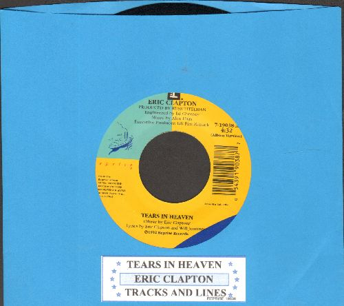 Clapton, Eric - Tears In Heaven/Tracks And Lines - NM9/ - 45 rpm Records