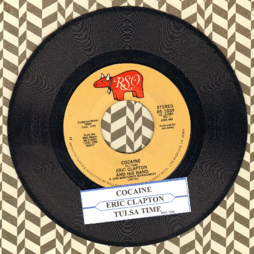Clapton, Eric - Cocaine/Tulsa Time (with juke box label) - EX8/ - 45 rpm Records