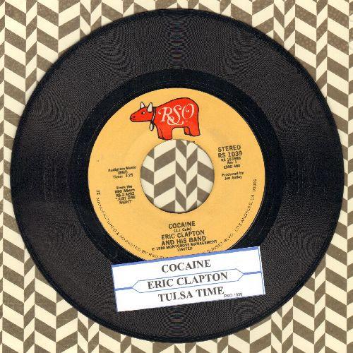 Clapton, Eric - Cocaine/Tulsa Time (with juke box label) - EX8/ - 45 rpm Records