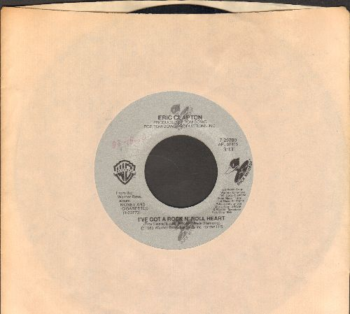 Clapton, Eric - Man In Love/I've Got A Rock N' Roll Heart (with Warner Brothers company sleeve) - VG7/ - 45 rpm Records