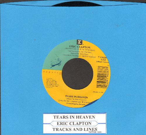 Clapton, Eric - Tears In Heaven/Tracks And Lines - EX8/ - 45 rpm Records